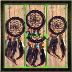 Rustic black dreamcatcher for your car (She has so many beautiful things on her Etsy page!)