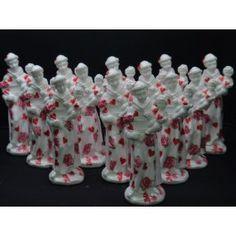 Santo Antonio mini corações em Gesso com Decoupagem porcelanato para lembrança lembrancinha casamento noivado