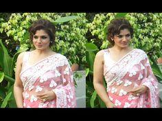 Raveena Tandon looks SENSUAL in transparent saree.