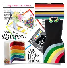 """""""rock the rainbow  ..."""" by boroscarmen ❤ liked on Polyvore featuring RED Valentino, women's clothing, women, female, woman, misses and juniors"""
