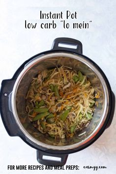 Craving a delicious lo mein but want to cut back on the carbs? Try this delicious low carb lo mein made with kohlrabi noodles made in under 10 minutes in an Instant Pot! #InstantPot  via @runcarmyrun