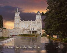 Temples by Ken Fortie: MANTI UTAH TEMPLE