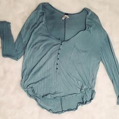 free people button up henley really cute! too big on me. never worn. Free People Tops Tees - Long Sleeve