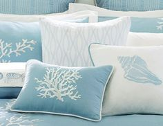 Love this beach bedding!