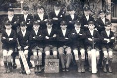 1945 Cathedral Grammar.  Jacobs house cricket team Christchurch New Zealand, Grammar, Cricket, Cathedral, Movies, Movie Posters, House, Films, Home