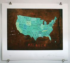 Places in America print. Pins to show where you have  love it