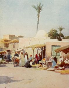 Robert Talbot Kelly - Egypt 1903, A corner in the market-place
