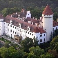 Konopiště castle - home of Archduke Franz Ferdinand - aerial view. Join us for half-day trip with microbrewery excursion ! Visit our website and book now....