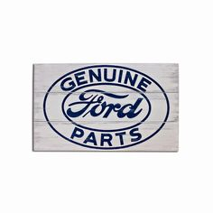 Let everyone know that you only use genuine Ford parts with this vintage wood sign.  Hand-crafted from real wood and licensed by the Ford Motor Company, this sign measures 17.5″ x 11″ a…
