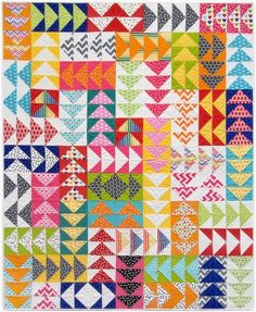 15 Flying Geese Quilts for Inspiration (Simple Simon and Company) Colchas Quilting, Scrappy Quilts, Easy Quilts, Mini Quilts, Quilting Projects, Quilting Designs, Modern Quilting, Machine Quilting, Children's Quilts