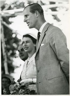 Prince Philip and Queen Elizabeth on tour in New Zealand, 1954