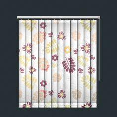 Soft Earth Toned Floral Print Vertical Blind