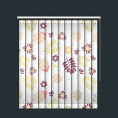 Soft Earth Toned Floral Print Vertical Blind