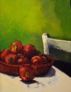 Francisca Louw - Pomegranates Oil on canvas 2012