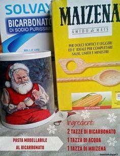 Pasta mi i dell'antenna al bicarbonato Crea Fimo, Fimo Clay, Christmas Sewing, Christmas Diy, Diy Kalender, Clay Christmas Decorations, Diy And Crafts, Crafts For Kids, Montessori