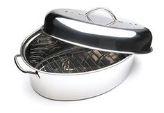 10Quart Stainless Steel Oval Roaster Set -- Click image to review more details.Note:It is affiliate link to Amazon.