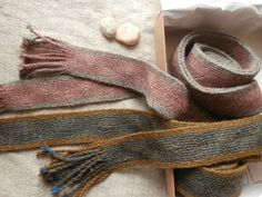 Tablet woven band, pink and gray , naturally plant dyed wool trim. Viking reenactment, medieval clothing historic