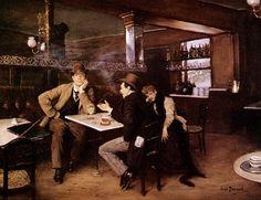 1908.......L ' ENNUI...............PARTAGE DE LE PEINTRE JEAN BERAUD.........SUR FACEBOOK.........
