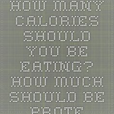 How Many Calories Should You Be Eating? How Much Should Be Protein vs Carbs vs Fat?   Hiit Blog