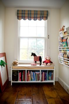 Have a beautiful, stylish living room that's also kid-friendly by incorporating . Have a beautiful, stylish living room that's also kid-friendly by incorporating smart storage, co Big Girl Rooms, Boy Room, Kids Bedroom, Bedroom Decor, Kids Rooms, Bedroom Ideas, Bedroom Storage, Reading Nook Kids, Window Benches