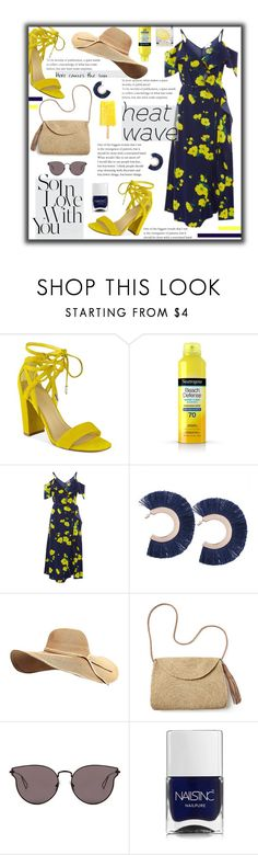 """""""Whenever He Calls My Name"""" by spnfancurl on Polyvore featuring Marc Fisher, Neutrogena, Warehouse, Mar y Sol, LMNT, Nails Inc. and heatwave"""