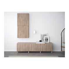 BESTÅ Mobili con cassetti - Lappviken effetto noce mordente grigio, guida cassetto/apertura a pressione - IKEA