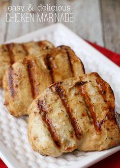 A great Chicken Marinade recipe - perfect for anyone who loves chicken! { lilluna.com }