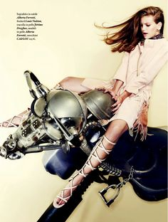 Rodeo Ride: Anna Trosko And Lera Bubleyko By Marco La Conte For Io Donna 7th February 2015