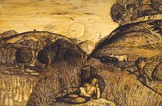 """""""The Valley Thick with Corn"""" by Samuel Palmer"""