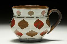 Sanam Emami    Cup    Meissen Chocolate Porcelain, wheel thrown, silk screen transfers,