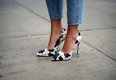 The cow print has made it to my shoes!