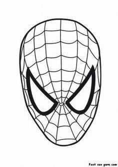 Printable Superheroes Spiderman Maske Coloring Pages