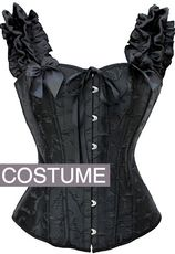 Angel Wings Black Black Corset