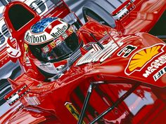 Classic Car News Pics And Videos From Around The World Michael Schumacher, F1 Racing, Racing Team, British Grand Prix, Ferrari F1, Car Painting, Watercolor Painting, Car And Driver, Formula One