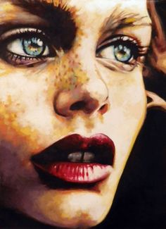 "Saatchi Art Artist Thomas Saliot; Painting, ""Intense green eyes"" #art One of my faves... been wanting to order prints forever now"