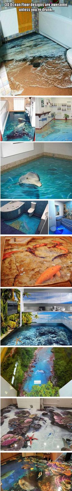 3D Ocean Floor Designs Are Awesome Unless Youre Drunk 10 Pics: