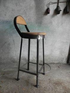 Krzesło, taboret barowy, hoker, vintage, LOFT, Ind