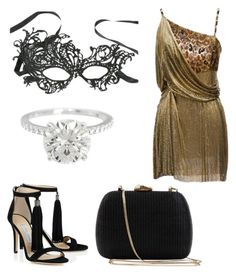 """""""Halloween Party : Caroline :)"""" by daniellecvs ❤ liked on Polyvore featuring Versace and Serpui"""