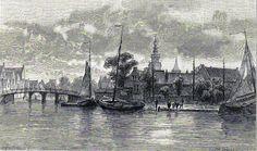Antique print Monnickendam Waterland North Holland 1887 houtgravure