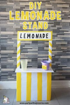 Are starting to heat up, and the few things beat the heat like a cold glass of lemonade. Cardboard lemonade stand for kids DIY craft to celebrate the . Big Cardboard Boxes, Cardboard Box Crafts, Cardboard Playhouse, Cardboard Toys, Cardboard Furniture, Upcycled Furniture, Playhouse Furniture, Cardboard Houses, Cardboard Castle