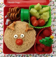 Bento-logy: Rudolph the Red Nose Reindeer Had a Very Shiny Nose!