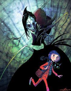 The Beldam and Coraline Coraline Art, Psychedelic Illustration, Coraline Aesthetic, Stop Motion, Drawings, Coraline Drawing, Anime Drawings Tutorials, Coraline, Coraline Jones