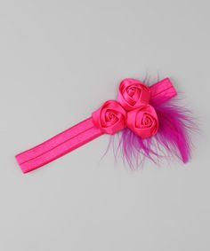 Take a look at this Sweet Treat Bows Pink Rose Feather Headband by Sweet Treat Bows on #zulily today!