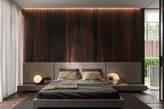 Simple And Modern Bedroom Interior Design Ideas Men's Bedroom Design, Bed Design, Bedhead Design, Master Room Design, Bedroom Furniture Design, Luxury Home Decor, Luxury Homes, Home Bedroom, Bedroom Decor