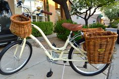 My new bike: an Electra Townie 7D with Nantucket Bike Baskets - rear baskets yes?