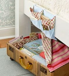 I love my little pocket bedside hanger from IKEA. But it looks like I can make something like this. I need more than what I have