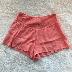 Flowy Altar'd State shorts Coral flowy cotton shorts, no tags but never worn Altar'd State Shorts