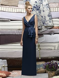 Lela Rose Bridesmaids Style LR172 http://www.dessy.com/dresses/lelarose/lr172/ in midnight...the silk is very elegant...