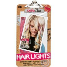 Pink and blue ombre hair lights