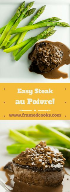 This recipe for easy steak au poivre - otherwise known as steak with pepper - has a creamy, boozy sauce that will have them wanting seconds! Sauce Recipes, Fish Recipes, Beef Recipes, Cooking Recipes, Cooking Ideas, Food Ideas, Au Poivre Sauce, Steak Au Poivre, Beef Dishes
